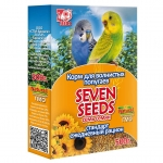 Корм для волнистых попугаев Seven Seeds стандарт, ежедневный рацион, витамины, минералы 500 г.