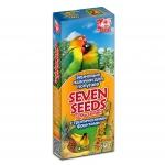 Палочки Seven Seeds для попугаев с тропическими фруктами, 80 г.